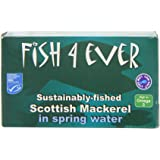 Fish 4 Ever Mackerel in Spring Water 125 g (Pack of 5)