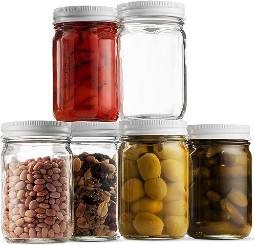 Amazon.com: Tarros de vidrio Mason – 12 onzas de mermelada ...