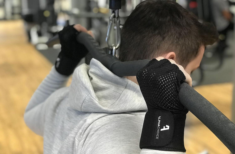 Gants de fitness renforc/és au niveau des poignets pour la lev/ée de poids et la musculation f/éminine et masculine Gants de fitness Alphachoice
