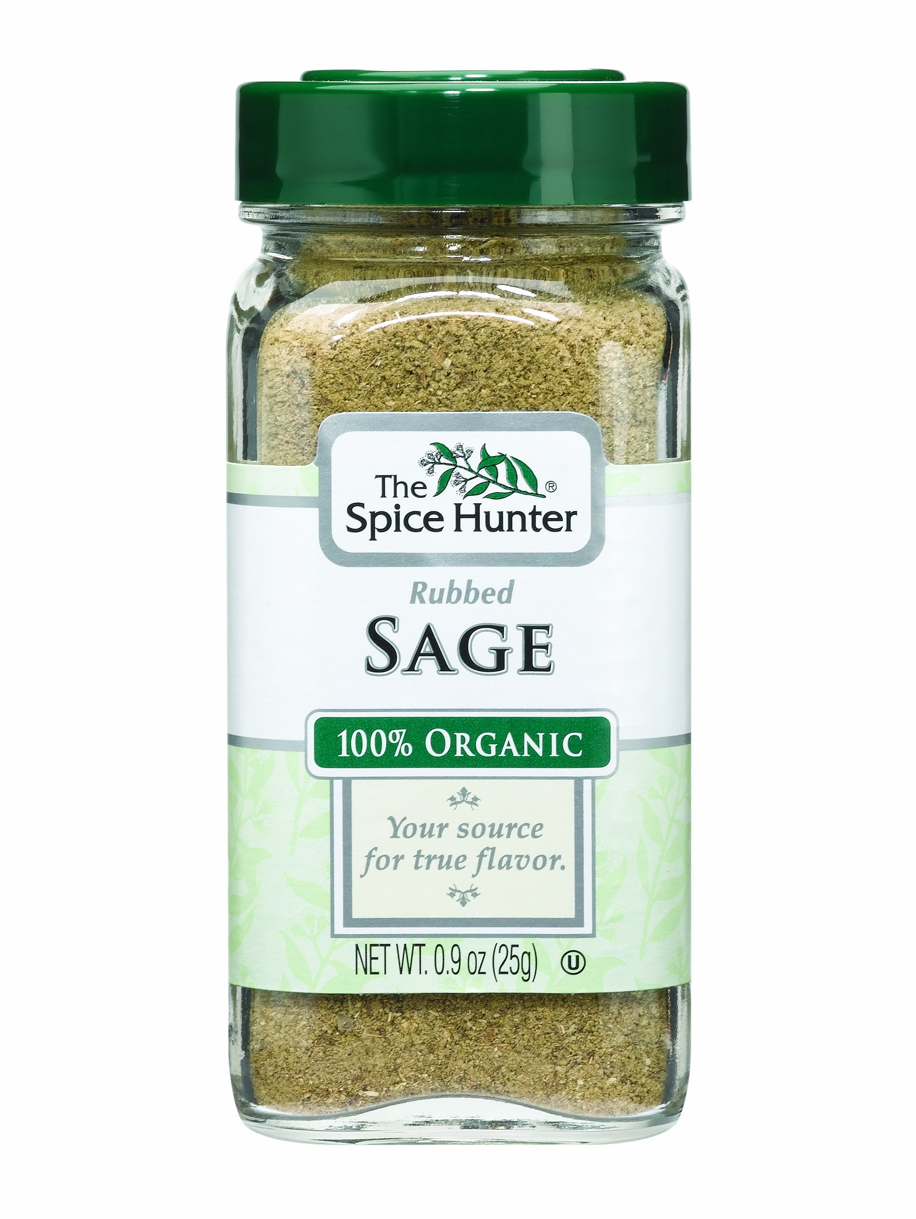 The Spice Hunter Sage, Rubbed, Organic, 0.9-Ounce Jars (Pack of 6)