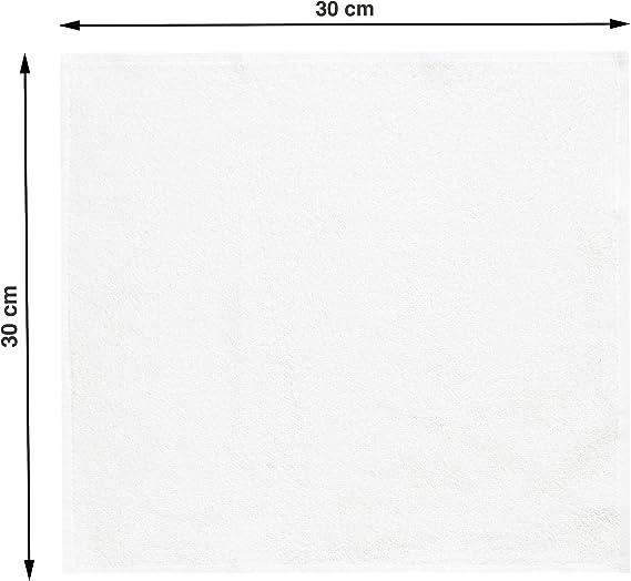 100/% Baumwolle 400 g//qm ZOLLNER 10er Set Seift/ücher 30x30 cm gelb