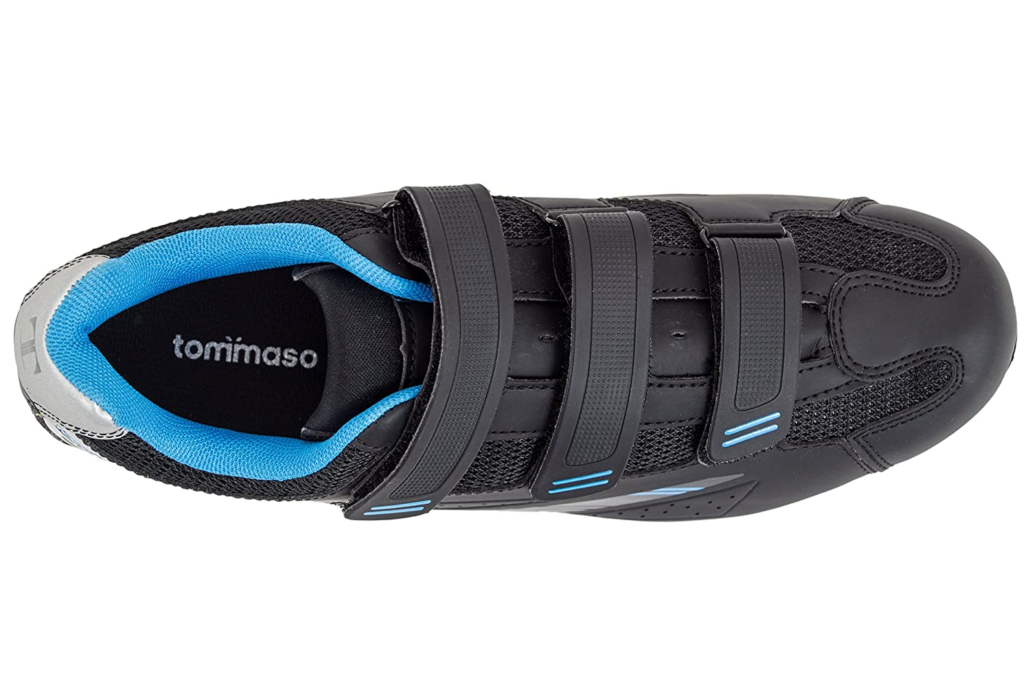 Tommaso Pista 100 Women's Spin Class Ready Cycling Shoe with Compatable Cleat - Black/Blue B07665WCFW 38 EU/ 7.5 US W|Spd