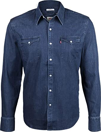 04f11095d07 Levi s Barstow Western Denim Shirt  Amazon.co.uk  Clothing