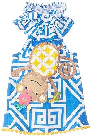 baby stores Mud Pie Baby-Girls Newborn Monkey Dress, Multi, 0-6 Months