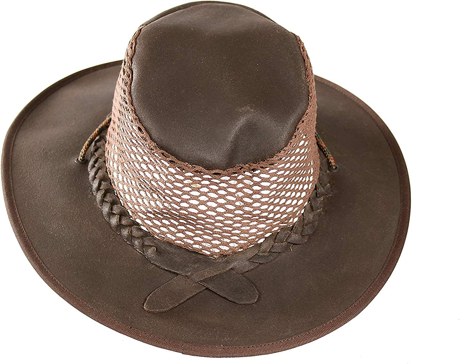 Cowboy//Outback//Aussie Style Leather Hat Hand Crafted in S Africa