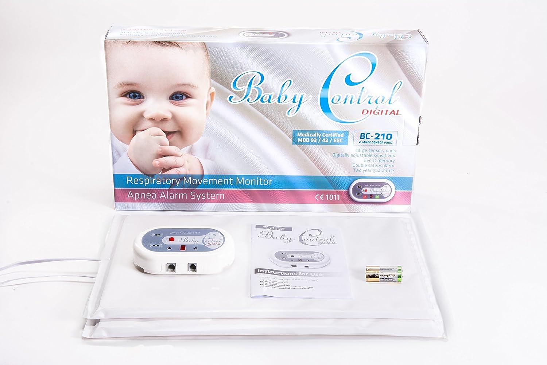 Baby Control BC-200 Breathing Monitor with 1 Sensor Pad Baby Control Digital
