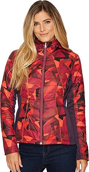 0a4f1d9f00571 Spyder Women's Glissade Hoody Insulator Jacket, Red Camo Print/Nightshade,  Medium