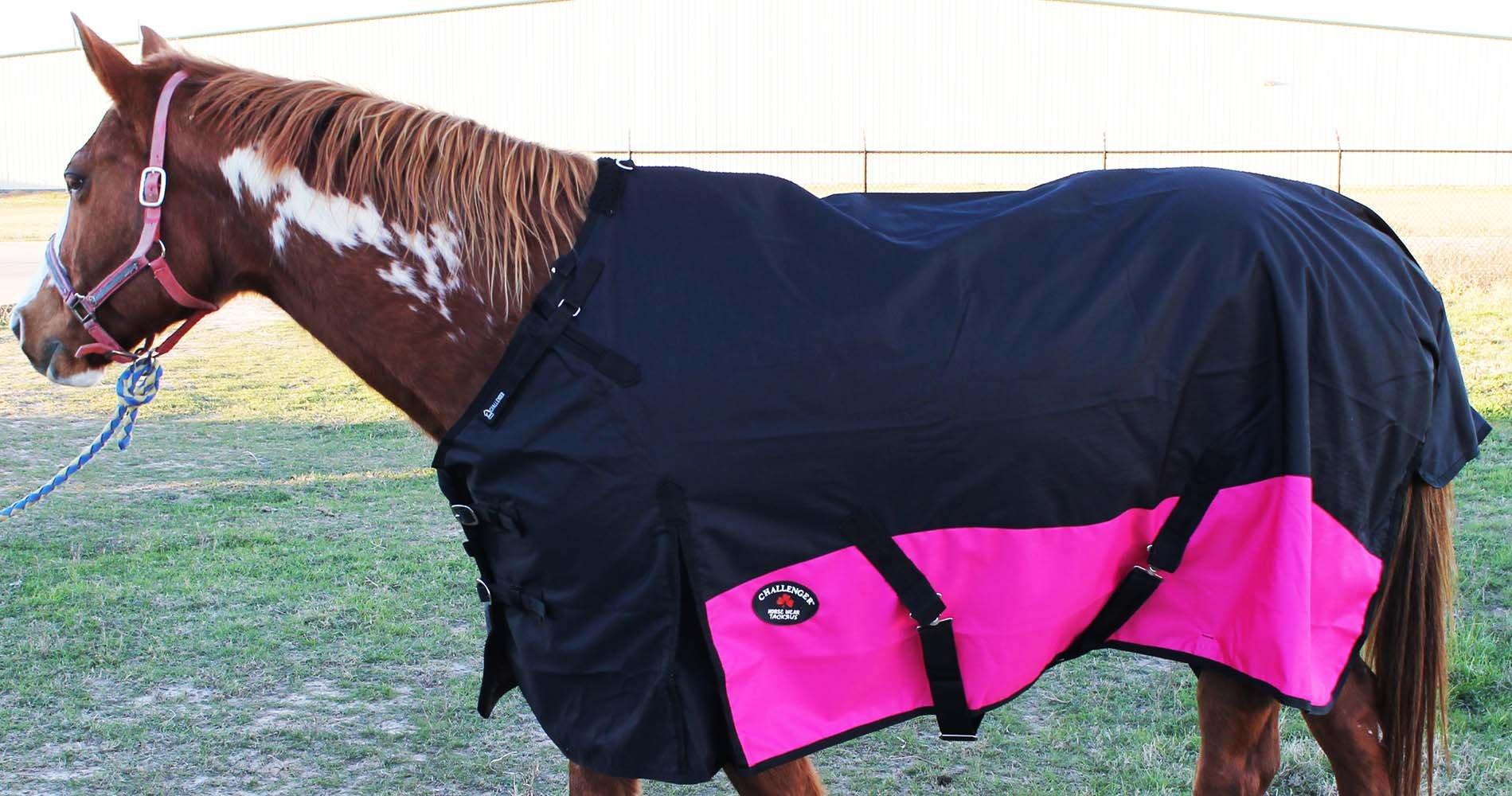 CHALLENGER 76'' 1200D Turnout Rain Horse Sheet Light Winter Blanket 369