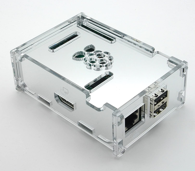 Luxury Case AVC PI - Mirror Silver - Raspberry Pi: Amazon co