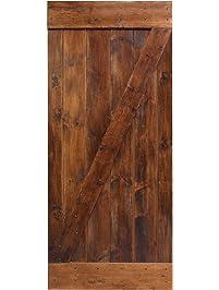 Interior closet doors amazon building supplies doors tms 36x84 dark coffee solid core plank knotty pine barn wood sliding interior planetlyrics Image collections