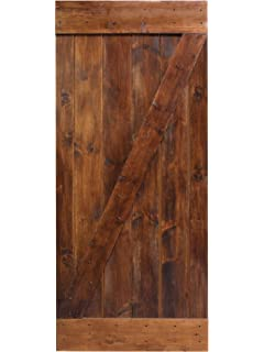 TMS 36u201dx84u201d Dark Coffee Solid Core Plank Knotty Pine Barn Wood Sliding  Interior