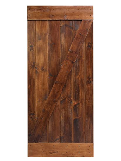 TMS 36u201dx84u201d Dark Coffee Solid Core Plank Knotty Pine Barn Wood Sliding  Interior