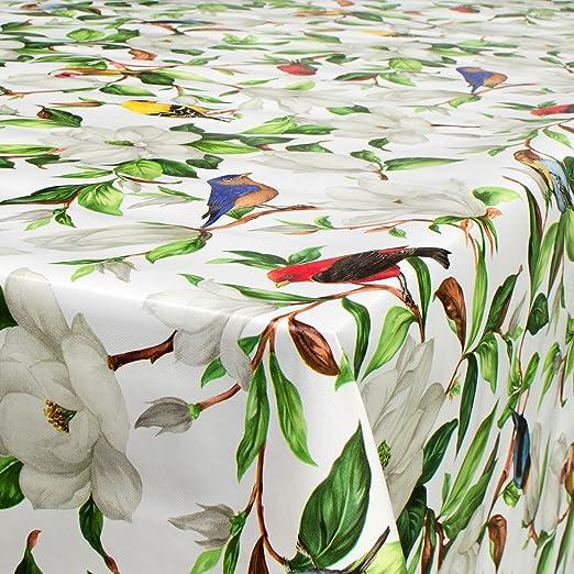 Hule para mesa, lavable, diseño de pájaros y flores, tamaño a ...