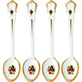 """Royal Albert Old Country Roses Spoon (Set of 4), 5.9"""", Multicolor"""