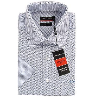PIERRE CARDIN  quot Regular Fit quot  Herren Kurzarm Hemd Polka Dots (Weiß  Blau 0b18edc7c3