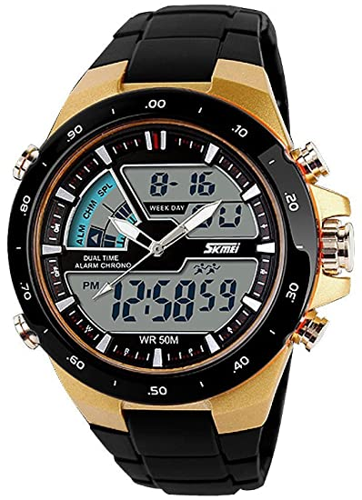 carlien Hombres Deportes Relojes Casual cuarzo reloj digital Hombre analógico Militar relojes de pulsera: skmei: Amazon.es: Relojes