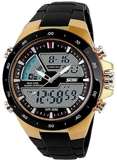 22c77c1e45f4 carlien Hombres Deportes Relojes Casual cuarzo reloj digital Hombre  analógico Militar relojes de pulsera  skmei