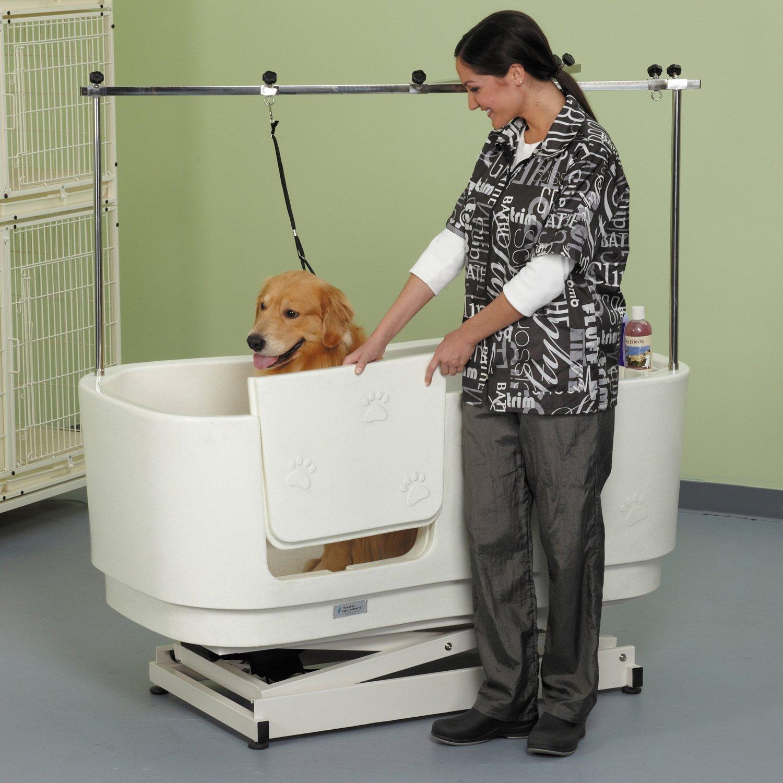 Amazon.com : Master Equipment White PolyPro Motor Lift Grooming Tub ...