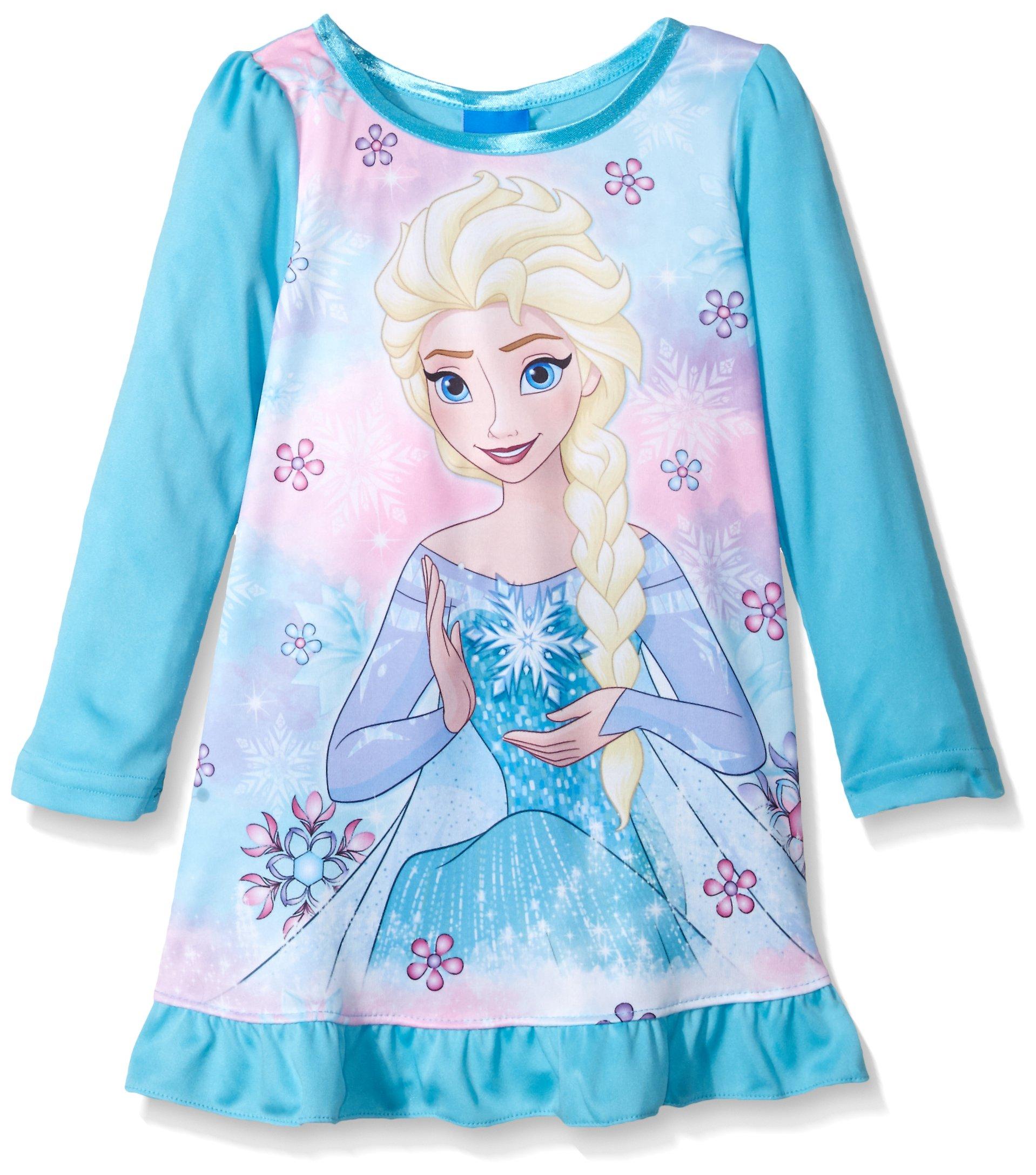Disney Toddler Girls\' Frozen Elsa Nightgown, Frozen Blue, 2T ...