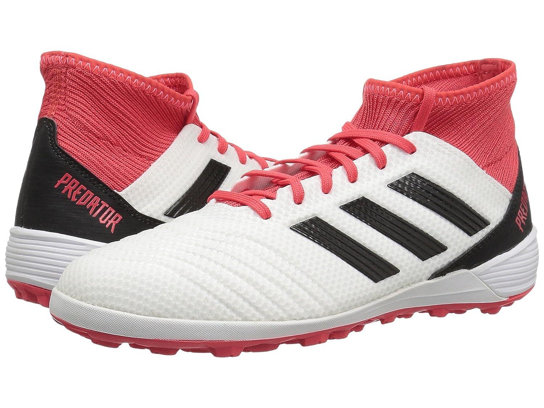 (アディダス) adidas メンズサッカーシューズ靴 Predator Tango 18.3 Turf White/Black/Real Coral 6.5 (24.5cm) D Medium B07C9DJR5W