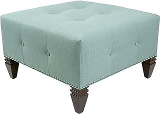 product image for MJL Furniture Designs Nova Collection Square Ottoman, Lagoon