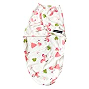 Adjustable Any Weather Lightweight Infant Baby Girl Swaddle Wrap Blanket for 0-12 Months (White/Pony - Girl)