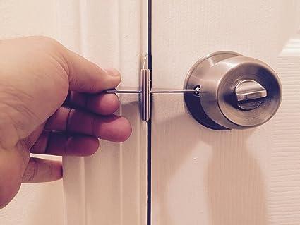 Puerta Lock-It portátil viaje cerradura de la puerta; 100% acero inoxidable;