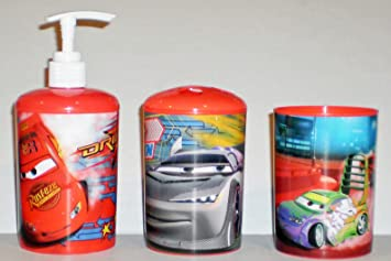 Amazon.com: Disney Pixar Cars 3-Piece Bathroom Accessories Set: Home ...