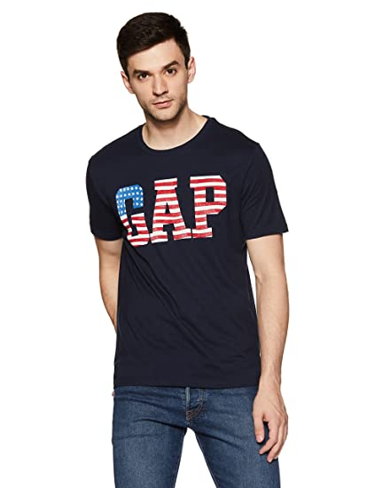 64b2af8e1df GAP Men s Printed Regular Fit T-Shirt  Amazon.in  Clothing   Accessories