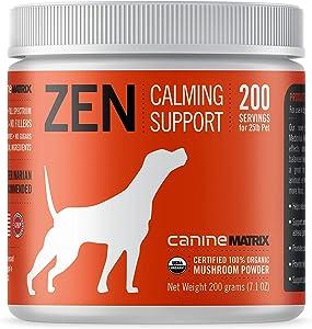 Canine Matrix Organic Mushroom Supplement for Dogs, Zen, 200 Grams, Model:C000ZM200