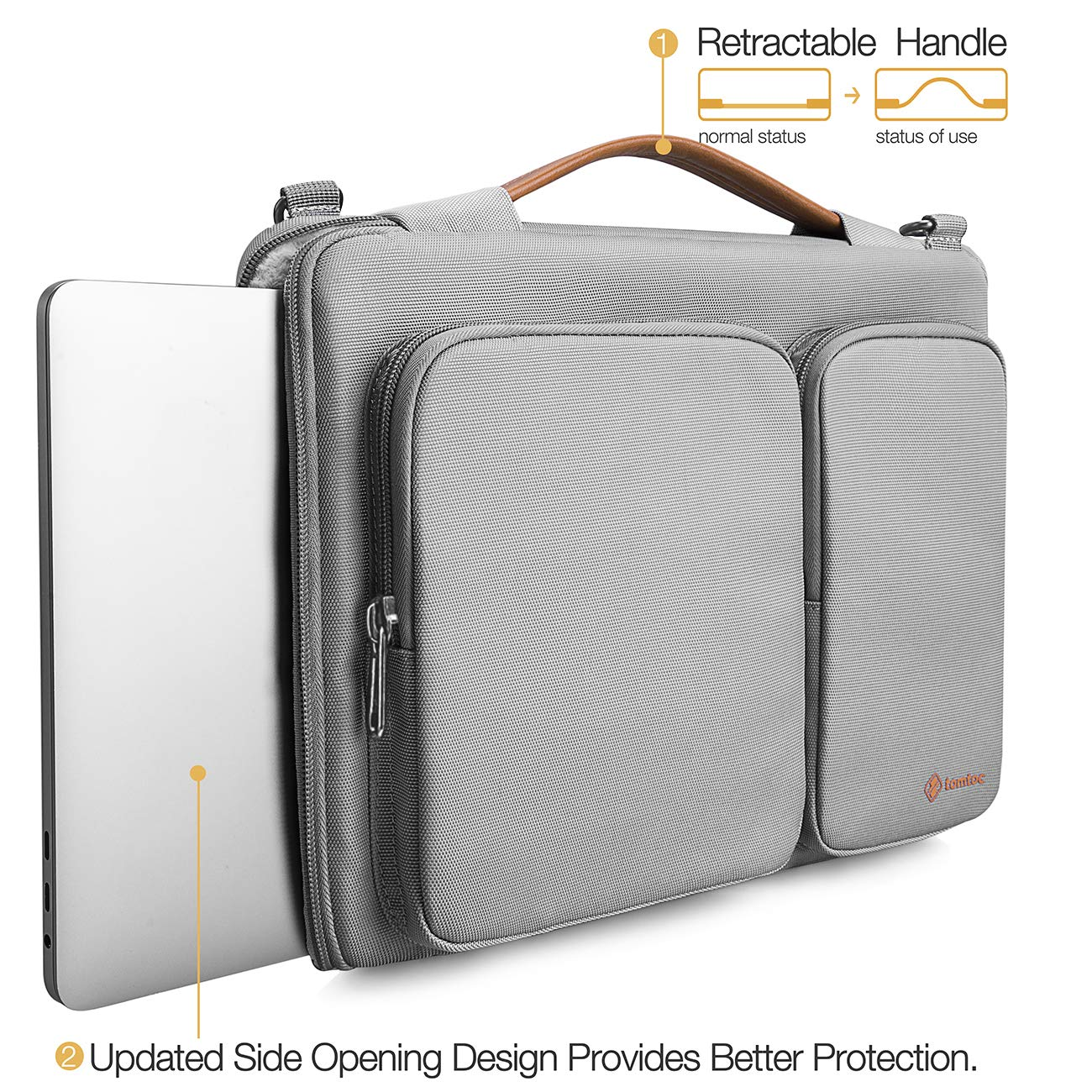 tomtoc Original 15.6 Inch Laptop Shoulder Bag with CornerArmor Patent /& Accessory Pocket 360/° Protective Sleeve Compatible with 15-15.6 Dell HP Acer Lenovo Chromebook Notebook