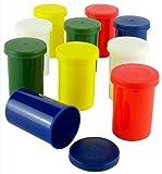 Bunte Filmdosen - stabiler Kunststoff - für Geocaching oder Kleinteile (10 Stück)