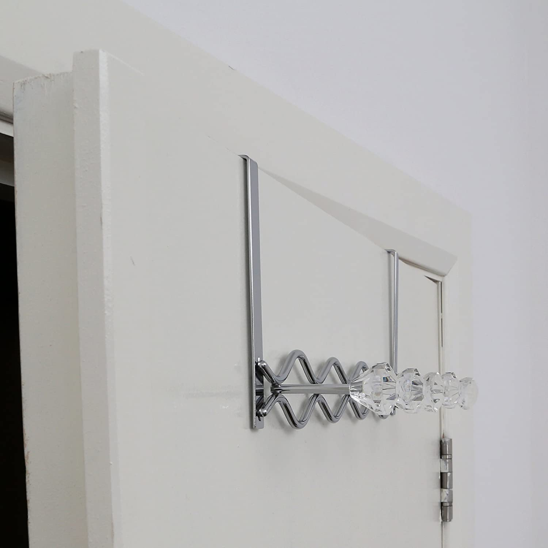 Hot Pink Premier Housewares 5 Diamante Hook Over Door Hanger