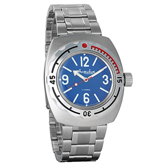 Vostok 2415 de anfibios 090914 Militar ruso reloj mecánico: Amazon.es: Relojes