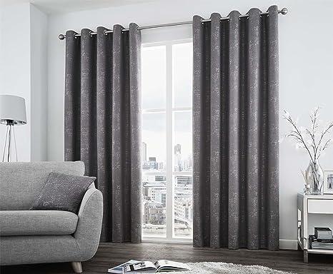 Tende In Tessuto Pesante : Tessuto pesante colore grigio grafite foderata 167 6 x 137 2 cm