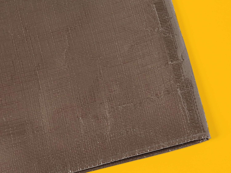0,4 mm di spessore colore argento//nero confezione da 1 Telo impermeabile multiuso in poliestere 3 x 6 metri Commercial
