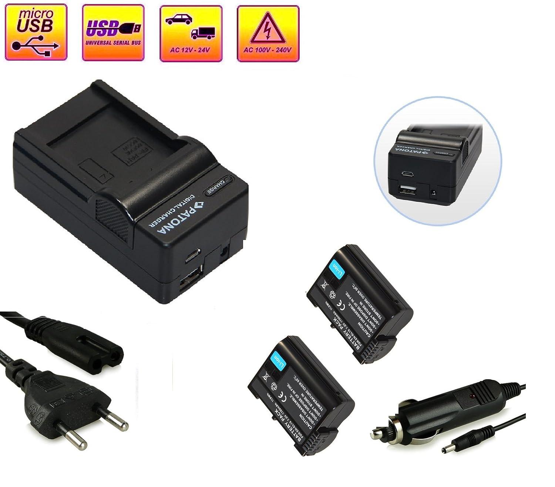 Cargador de batería 4en1 + 2x Batteries Nikon EN-EL15 -- para ...