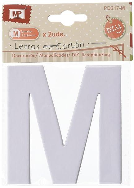 MP PD217-M - Set 2 Letras de Carton Para Scrapbooking, 9.3 x ...