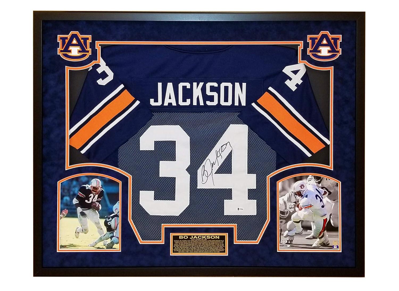 los angeles f0b45 cd43c Bo Jackson Autographed Auburn Tigers Jersey - Premium Suede ...