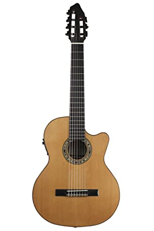 Kremona fiesta cw-7 Cutaway/ruso eléctrica (7 cuerdas para guitarra ...