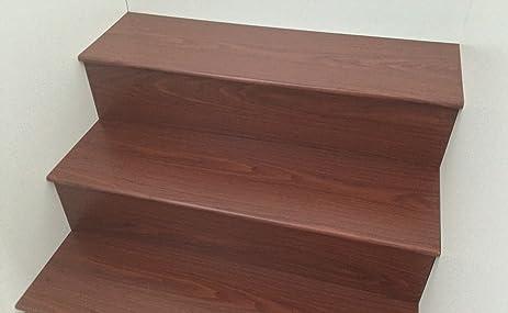 Laminate Flooring Stair Tread System 6 Kits Per Box Brown Alder