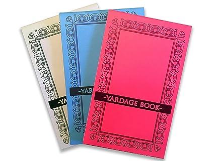 Amazon.com : Golf Yardage Books (3 Pack) PGA Tour Template W/Stat ...