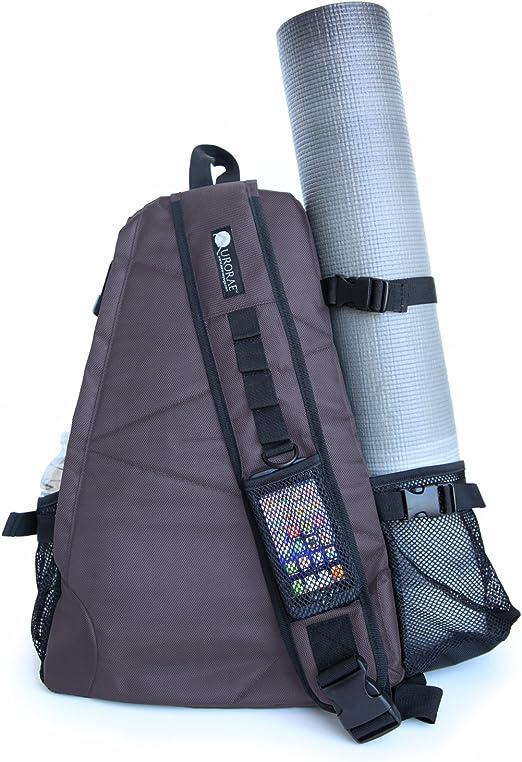 Aurorae Yoga Mat Carrier Bag. Multi Purpose Cross-Body Sling Back Pack. Mat Sold Separately.