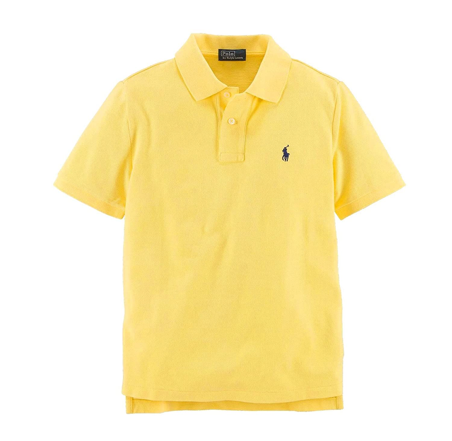 Ralph Lauren Infant Baby Boys Classic Mesh Pony Logo Polo Shirt Yellow)