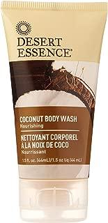 product image for Desert Essence Coconut Body Wash - 1.5 Fl Oz - Nourishing - Jojoba Oil - Sugar Maple - Shea Butter - Revitalizes Skin - Intense Hydration - Vegan - Gluten Free - Cruelty Free - Paraben Free