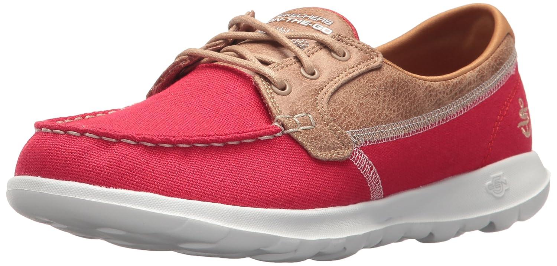 Skechers Women's Go Walk Lite-15430 Boat Shoe B072RC8NS5 11 B(M) US|Red