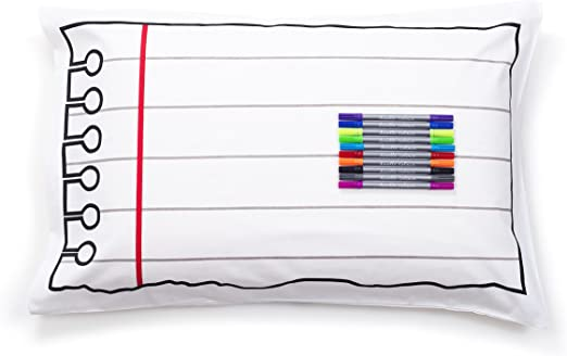 Color Your Own Pillow Case Coloring Pillowcase with Washable Fabric Markers eatsleepdoodle DPC Doodle Pillowcase