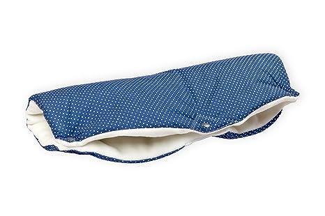 Fuerza Kids para carrito de bebé manguito del - puntos blancos en colour azul oscuro