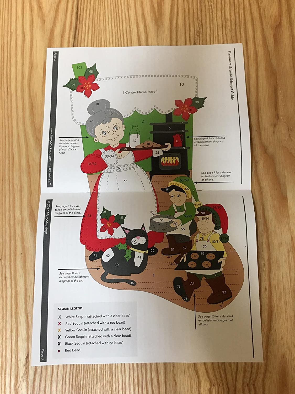 Mrs Claus 18 Felt Christmas Stocking Kit