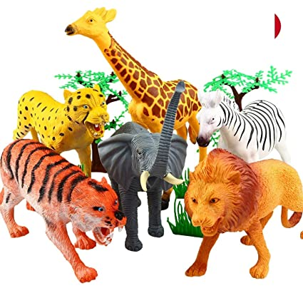 Shoro Cartoon Animal,Wild Animals Figures Set for Kids Educational Toy Learning Toy - Big Size…
